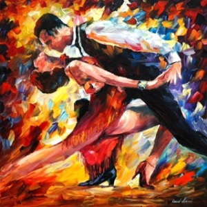 Tango  of Passion by Leonid Afremov